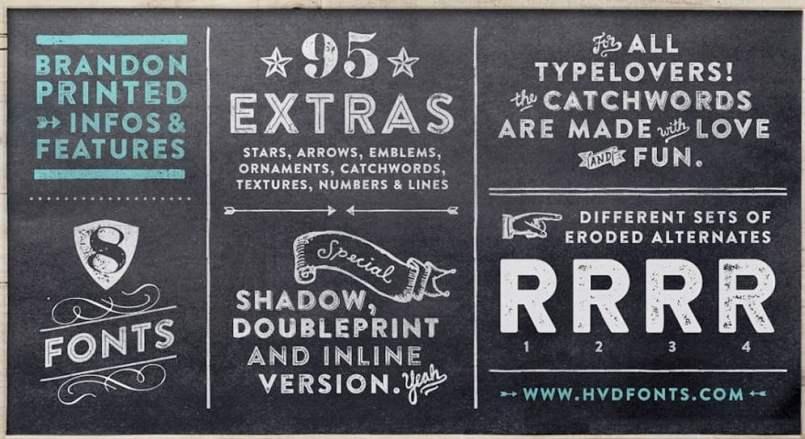 Tipografías hand made o vintage