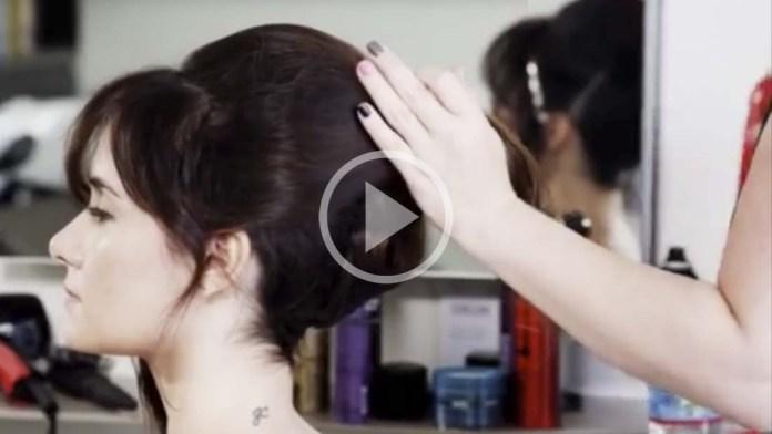 Video Alert! How-To: Audrey Hepburn in Breakfast At Tiffany's Inspired Updo
