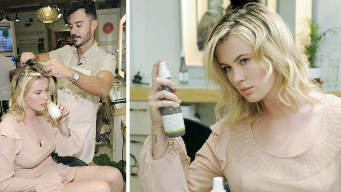 """Get the Look! Ireland Baldwin's Natural Beach Waves with the Biolage R.A.W. Styling """"Naked Touch"""" Experience"""