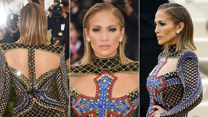 Get the Look: Jennifer Lopez's Bold Slicked Back Look by Lorenzo Martin