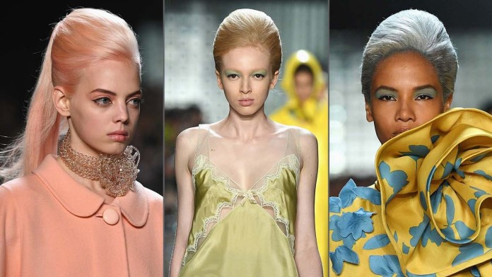 Get the NYFW Look: Marc Jacobs' Exaggerated Chignons & Vintage Colors by Guido Palau & Josh Wood