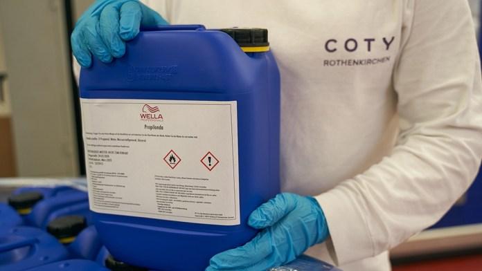 Coty Rothenkirchen produziert und spendet Handdesinfektionsmittel