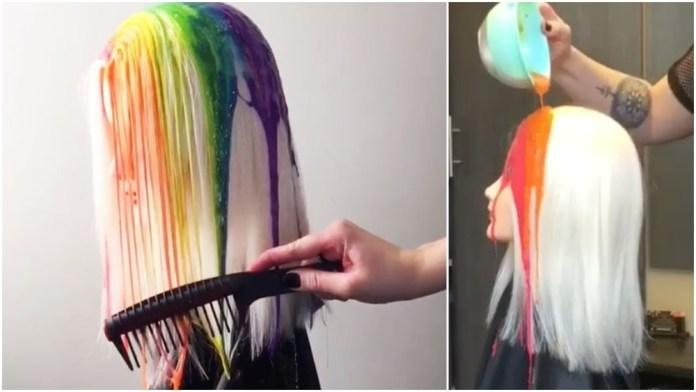 #DripHaircolor: una divertida forma de colorear el cabello