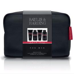 Set Cadou Baylis & Harding Men's Skin Spa Wash Bag - Lotiune de Curatare pentru Par si Corp 100ml, Gel de Dus 50ml, Balsam Aftershave 50ml, Lotiune de Curatare pentru Ten 100ml