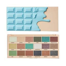 Paleta fard Makeup Revolution, I Heart Revolution, Macaroon Pigment Palette, 18 nuante, 18g