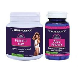 Perfect Slim+Aloe Ferox Herbagetica, 210 g + 30 capsule