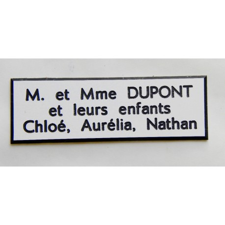 Plaque Etiquette Boite Aux Lettres Estgravure Fr
