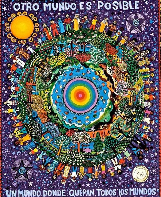 """""""Otro Mundo es Posible"""" by Beatriz Aurora, Chiapas artist"""