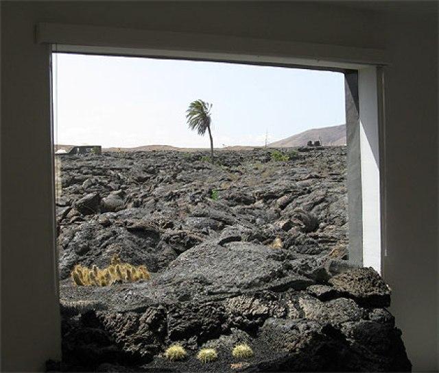 Ventana de lava Fundación Cesar Manrique