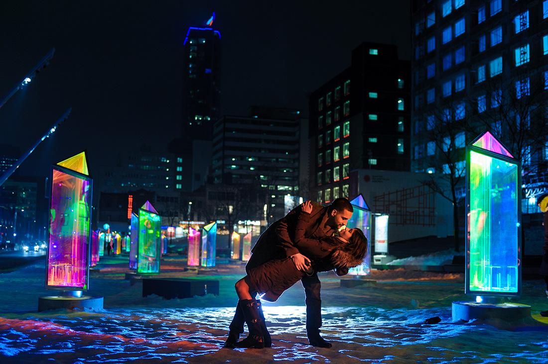 Urban engagement photos at Quartier des Spectacles, Montreal