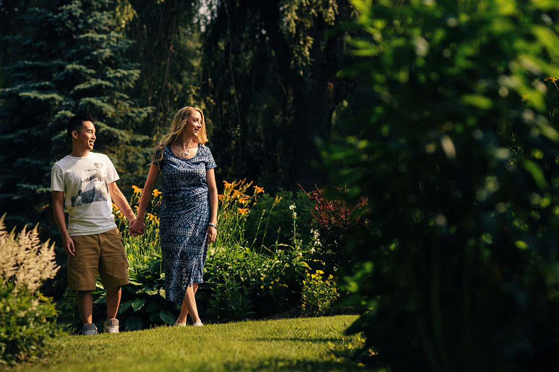 Engagement photos in Eastern Townships