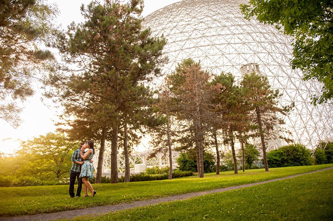 Biosphere engagement portraits at Parc Jean-Drapeau, Montreal