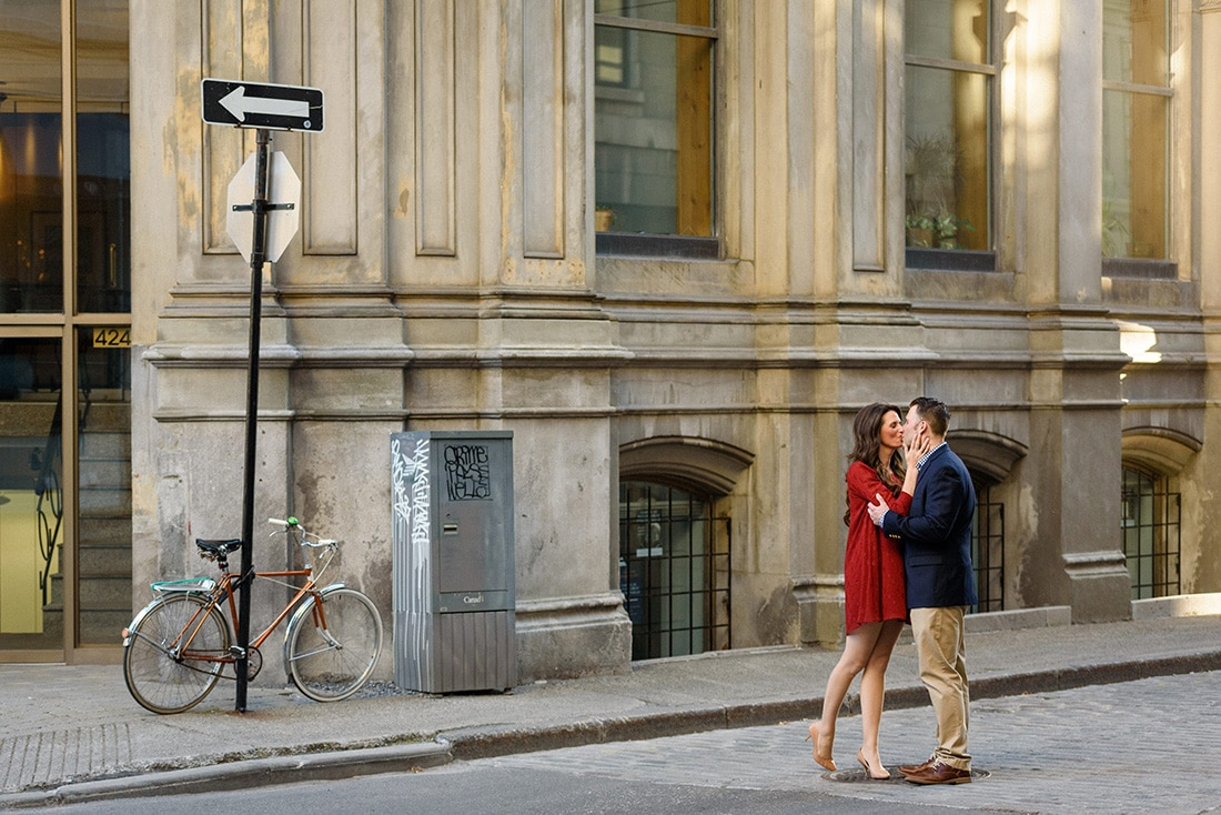 Engagement photos in Old Montreal