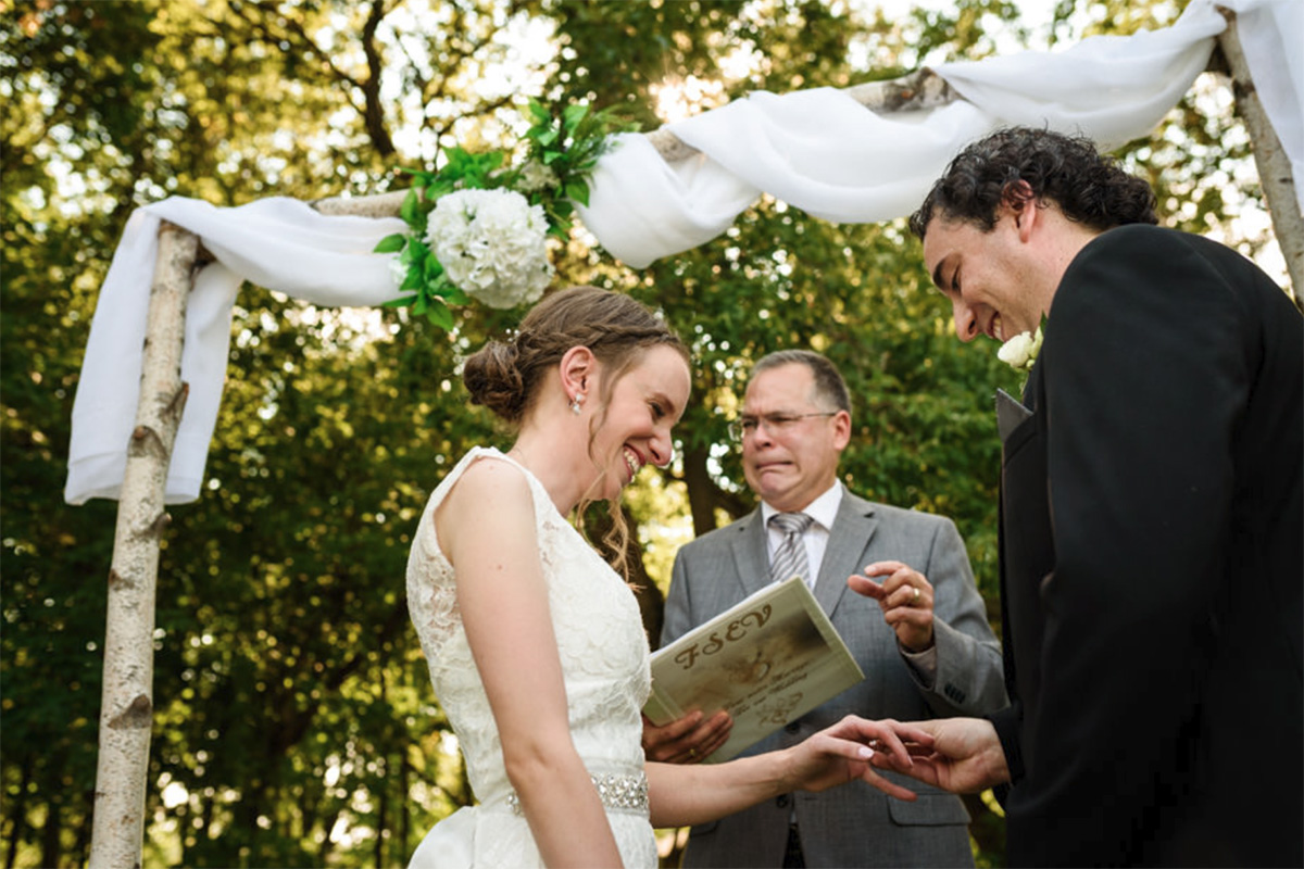 Award-winning wedding photo of ceremony