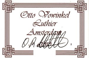 otto vowinkel concert model label