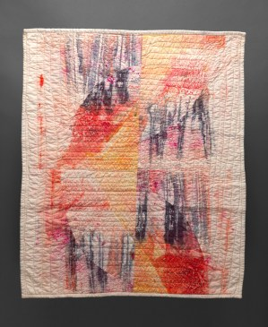 Esther S White, deconstructed screen printing quilt study, 2016