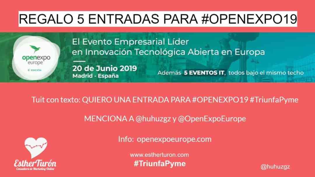 regalo de entradas de Open Expo 19