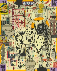 Shelley-Howard's-Dream-of-a-Bull-on-Rush-Street-(Lunch-Drawing#26)_©_Tony_Fitzpatrick