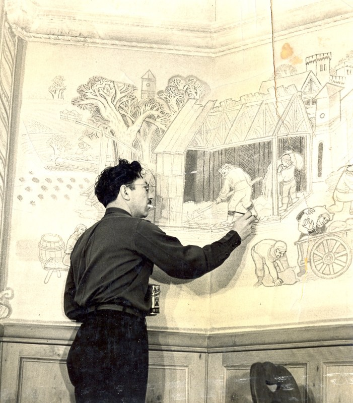 Edgar_painting_Pabst_Blue_Ribbon_Hall_murals