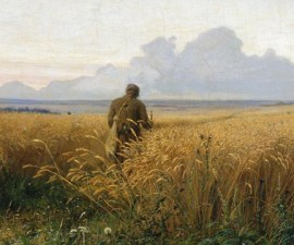 'The Road in the Rye', 1881, Grigoriy Myasoyedov
