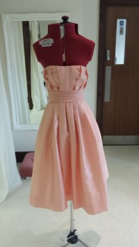 Sample Taffeta Dusky Pink Bridesmaid Dress