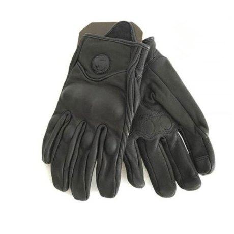 guantes piel negro moto