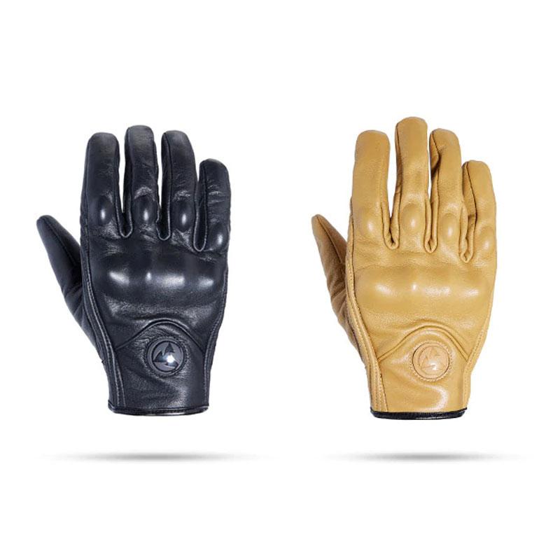 guantes cuero con proteccion estilo motero