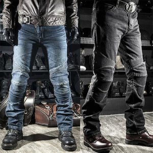 Pantalones vaqueros con protecciones estilo motero