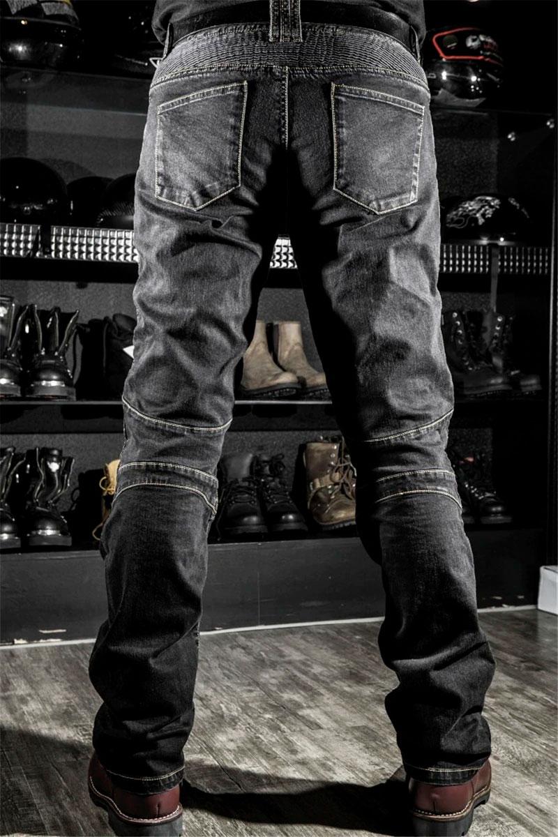 Pantalones vaqueros estilo motero