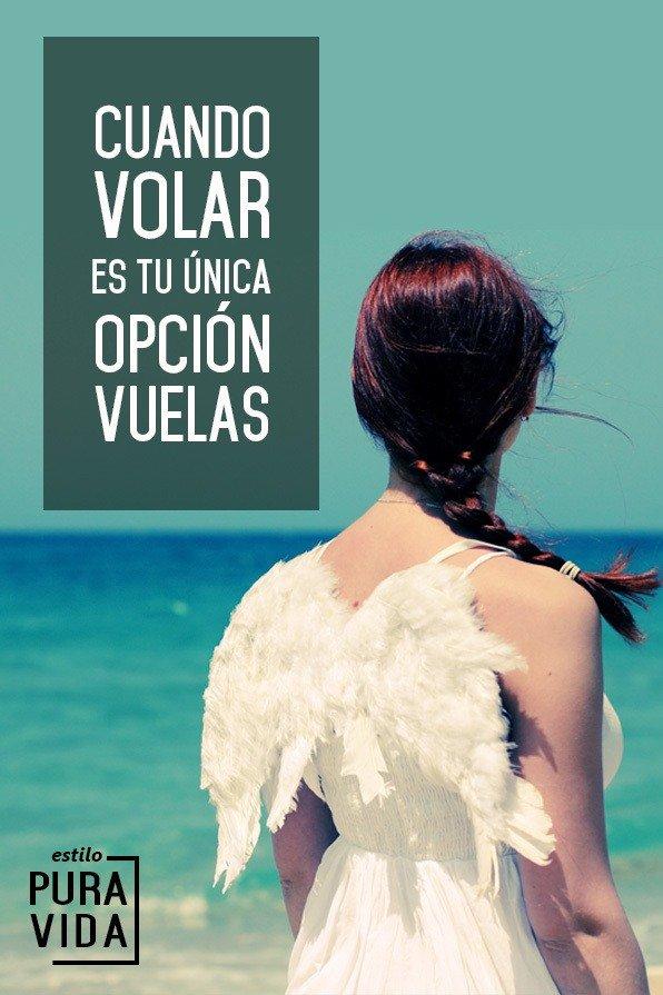 Cuando volar es tu única opción, vuelas. #inspiración #sueños