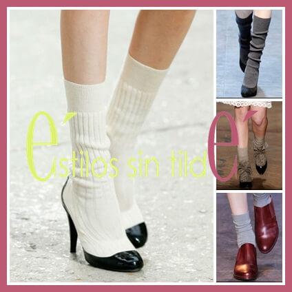 Calcetines con zapatos de salón