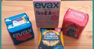 Probando Compresas, Salvaslips y Tampones Evax, Tampax y Ausonia