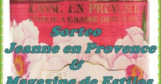 "Sorteo de un jabón de Marsella Jeanne en Provence ""Pivoine Féerie"""
