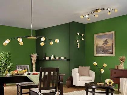 Un living comedor en color verde  Decoracin de Interiores y Exteriores  EstiloyDeco