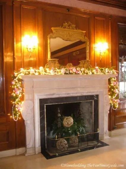 Decoracin navidea para la chimenea  Decoracin de