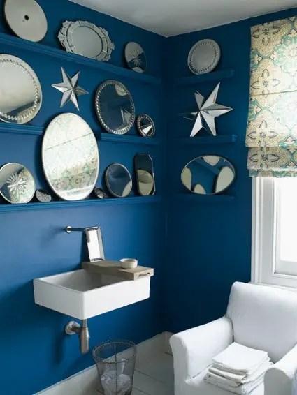 Hermosos baos azules  Decoracin de Interiores y