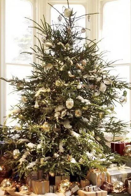 Navidad dorada  Decoracin de Interiores y Exteriores