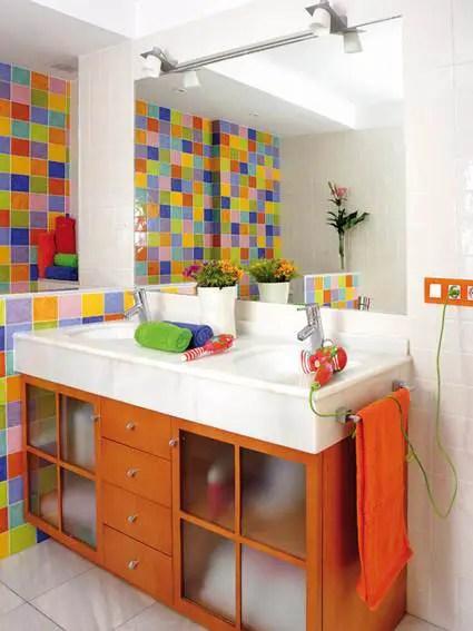 Baos a todo color  Decoracin de Interiores y Exteriores  EstiloyDeco
