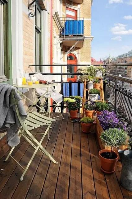 Balcones pequeos con madera  Decoracin de Interiores y