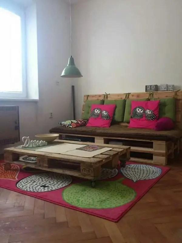 10 espacios decorados con palets de madera  Decoracin de