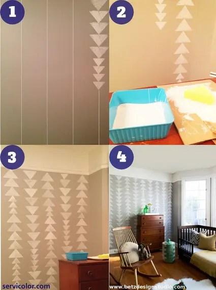 3 maneras de pintar t mismo una pared con tringulos