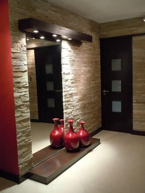 Piedra en paredes  Decoracin de Interiores y Exteriores
