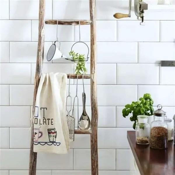 Decorar con escaleras de mano Ideas para decorar con