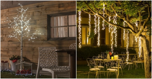 Decoracin navidea con Luces LED Ideas para Navidad