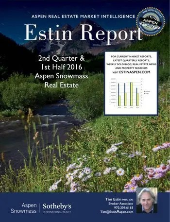 Estin Report: 2nd Quarter and 1st Half 2016 State of the Aspen Real Estate Market Image