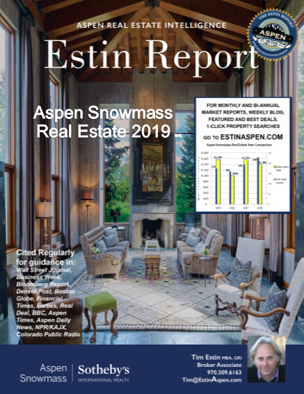 Estin Report: Aspen Snowmass Real Estate Market Report 2019 ws Image