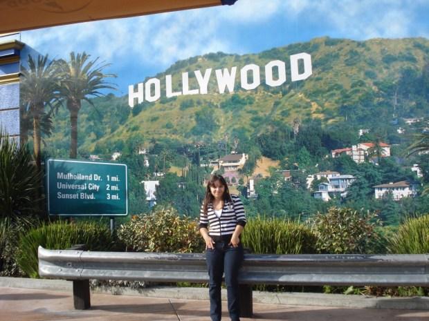 No Parque da Universal em Los Angeles
