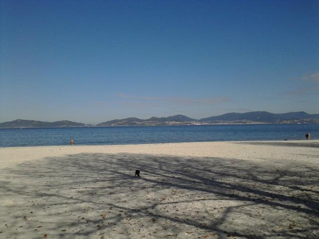 Praia da cidade de Vigo, uma das maiores da Galícia
