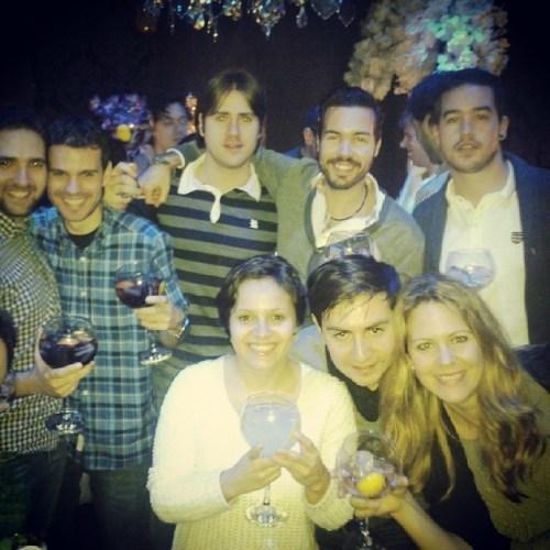 Com os colegas de estágio na festa de fim de ano!