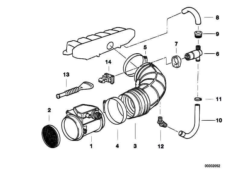 Original Parts for E36 320i M50 Cabrio / Fuel Preparation